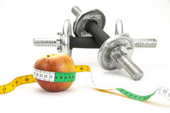 Zdrowy utrzymanie - odżywianie & ćwiczyć Fotografia Stock