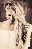 Zdrowy włosy zdjęcie stock