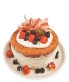 Zdrowy wanilia tort obraz royalty free