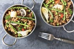Zdrowy weganinu Paella zdjęcia royalty free