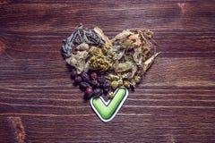 Zdrowy wybór z serce formą Obraz Stock