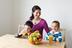 Zdrowy wybór - zdrowy śniadanie Obrazy Stock