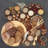 Zdrowy Wysoki włókno diety jedzenie zdjęcie stock