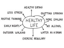 Zdrowy życia pojęcie Obrazy Royalty Free