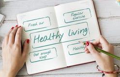 Zdrowy Żywy Excersice diety odżywiania grafiki pojęcie Fotografia Royalty Free