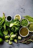 Zdrowy Zielonego jedzenia Proteinowy źródło dla jaroszy zdjęcie stock