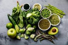 Zdrowy Zielonego jedzenia Proteinowy źródło dla jaroszy obrazy royalty free