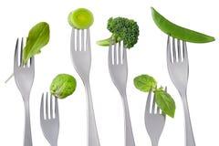 Zdrowy zielony jedzenie na bielu Zdjęcie Stock