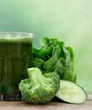 Zdrowy zielony sok Fotografia Stock