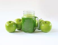 Zdrowy zielony sok Fotografia Royalty Free