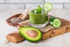 Zdrowy zielony soku smoothie zdjęcia royalty free
