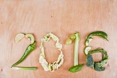 2016 Zdrowych Karmowych pojęć Obrazy Stock