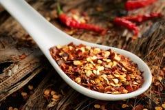 Zdruzgotana chili pikantność Fotografia Stock
