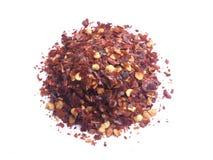 zdruzgotana chillies czerwień Obraz Stock