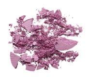 Zdruzgotana tekstura delikatnie różowy oko cień, proszek lub obrazy stock