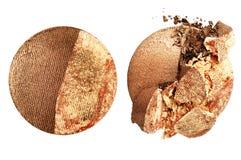 Zdruzgotany eyeshadow odizolowywający na białym tle fotografia stock