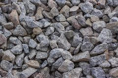 Zdruzgotany kamień od czerwonego granitu Obraz Stock