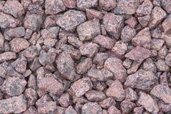 Zdruzgotany kamień od czerwonego granitu Fotografia Stock