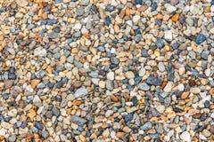 Zdruzgotany kamienny tło z różnorodnymi kolorami Fotografia Royalty Free
