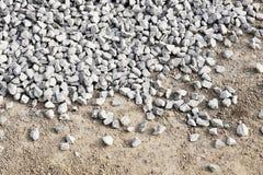 Zdruzgotany kamienny tło obraz stock