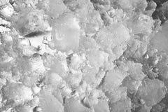 Zdruzgotany lodowy stapianie jako tło obrazy royalty free