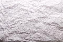 zdruzgotany papierowy biel Obraz Stock