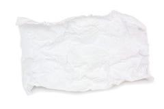zdruzgotany papierowy biel Fotografia Royalty Free