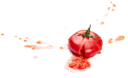 zdruzgotany pomidor zdjęcie stock