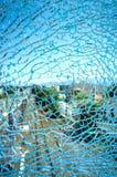 Zdruzgotany szklany kawałek Fotografia Royalty Free