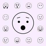 zdumienie ikona Emoji ikon og?lnoludzki ustawiaj?cy dla sieci i wisz?cej ozdoby ilustracji