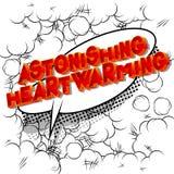 Zdumiewający Radujący serce - komiksu stylu słowo ilustracja wektor