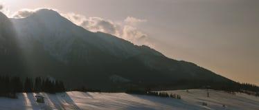 Zdziar, mening op de Lage Tatras-bergen, Slowakije 2014 Royalty-vrije Stock Afbeelding