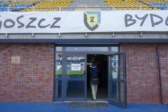 Zdzislaw Krzyszkowiak Stadium en Bydgoszcz Imágenes de archivo libres de regalías