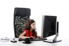 zdziwienia komputerowi dziewczyny spojrzenia zdjęcia royalty free