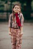 Zdziwiona ładna mała dziewczynka Obraz Royalty Free
