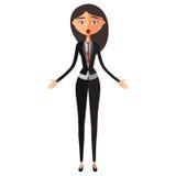 Zdziwiona azjatykcia bankowiec kobieta Oniemiająca biznesowa kobieta Zdumiewający nauczyciel Emocjonalny dziewczyna charakter wek Zdjęcia Stock