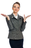 Zdziwiona biznesowa kobieta Obraz Stock