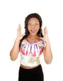 Zdziwiona czarny dziewczyna. Fotografia Royalty Free