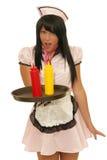 Zdziwiona kelnerka Zdjęcie Stock