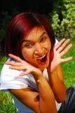 zdziwiona kobieta Fotografia Royalty Free