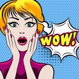 Zdziwiona kobiety twarz z no! no! bąblem ilustracji