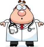 Zdziwiona kreskówki lekarka Zdjęcie Stock