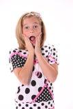Zdziwiona młoda dziewczyna Zdjęcia Stock