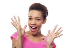 Zdziwiona młoda kobieta Zdjęcia Stock