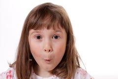 Zdziwiona mała dziewczynka obraz royalty free
