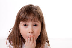 Zdziwiona mała dziewczynka obraz stock