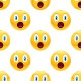 Zdziwiony emoticon wzór Zdjęcia Royalty Free