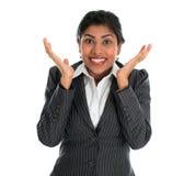 Zdziwiony. Indiański bizneswoman obraz stock