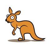 Zdziwiony kreskówka kangur Obraz Royalty Free