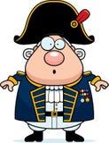 Zdziwiony kreskówki Brytyjski Admiral royalty ilustracja